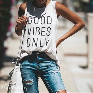 Tops - ⭐️JUST IN New Only Good Vibes Tank